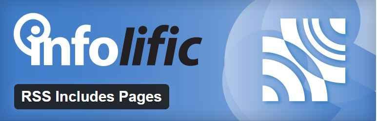 Includes Pages - melhores plugins RSS para WordPress