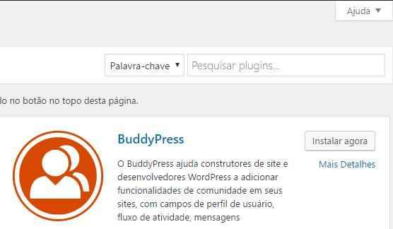 como criar um site wordpress - instalar plugins pesquisa