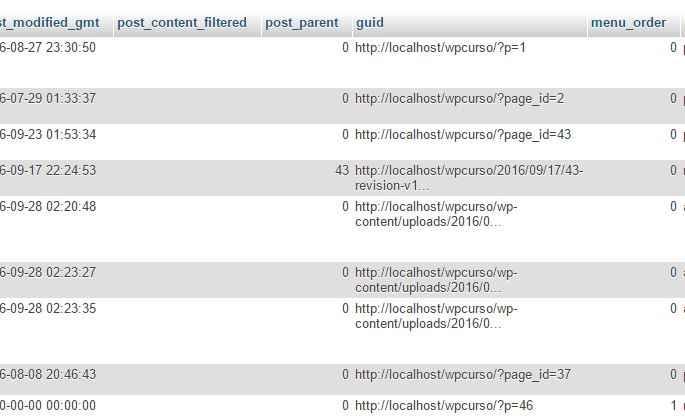 Como mover um site WordPress - guid