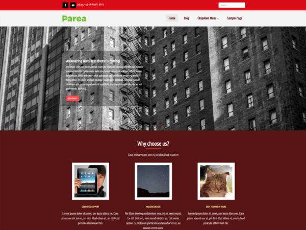 Tema WordPress Parea